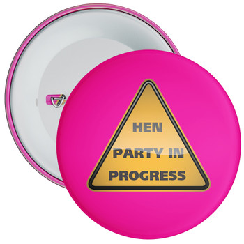 Pink Hen Party in Progress Badge