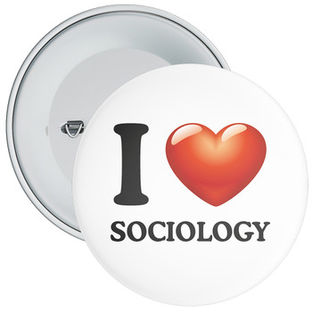 School I Love Sociology Badge