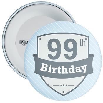 Vintage Retro 99th Birthday Badge