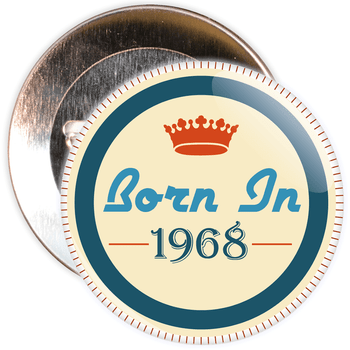 Born in 1968 Birthday Badge