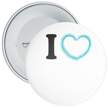 Custom I Love Badge 5