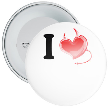 Custom I Love Badge 2