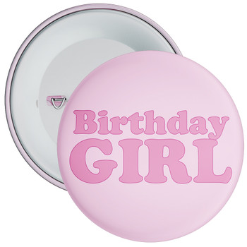 Pink Birthday Girl Badge