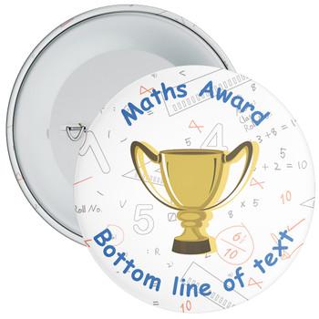 School Customisable Maths Award Badge 5