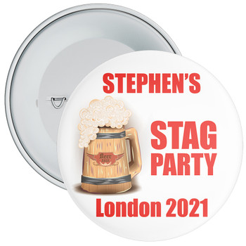 Custom Stag Party Badge 3