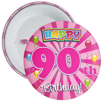 90th Birthday Badge