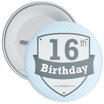 Vintage Retro 16th Birthday Badge
