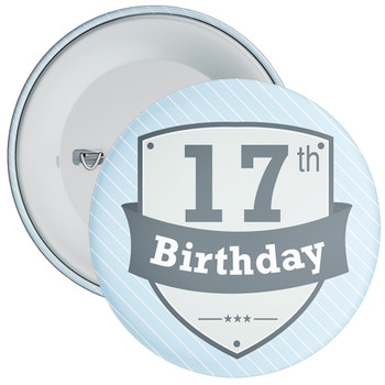 Vintage Retro 17th Birthday Badge