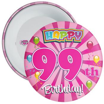 99th Birthday Badge