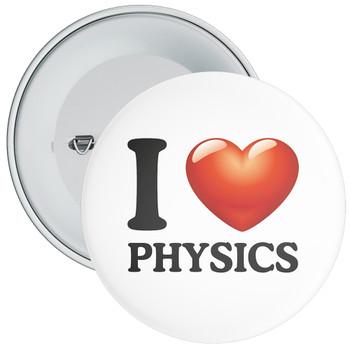 School I Love Physics Badge