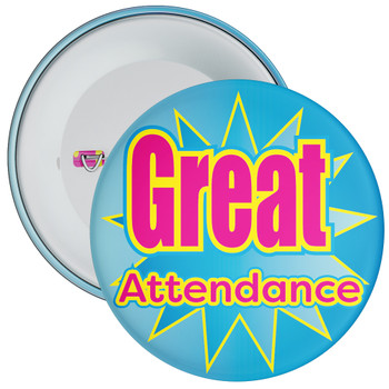 School Great Attendance Badge with Blue Star Background