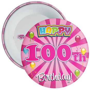 100th Birthday Badge