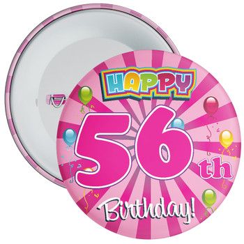 56th Birthday Badge
