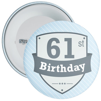 Vintage Retro 61st Birthday Badge