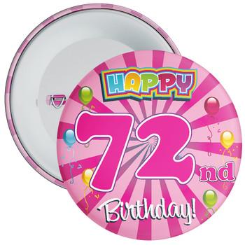 72nd Birthday Badge