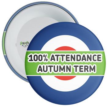 School 100% Attendance Badge Autumn Term 1
