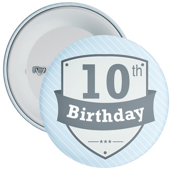 Vintage Retro 10th Birthday Badge