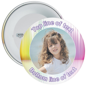 Multicoloured Bordered Photo Badge 7