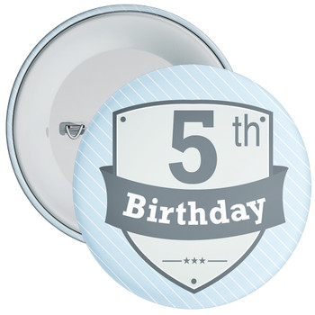 Vintage Retro 5th Birthday Badge