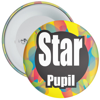 School Colourful Star Pupil Badge 4