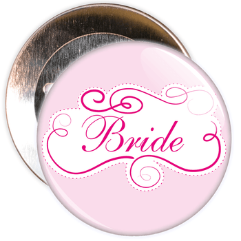 Pink Bride Hen Party Badge