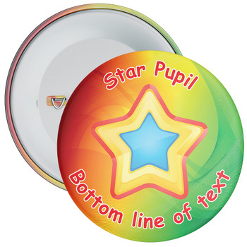 School Customisable Star Pupil Badge 13