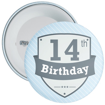 Vintage Retro 14th Birthday Badge