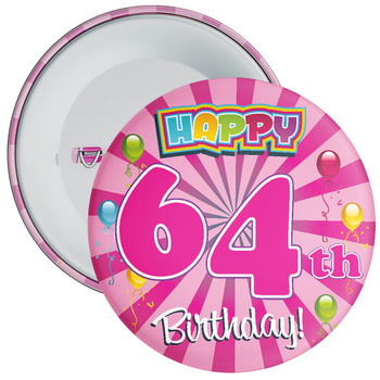 64th Birthday Badge