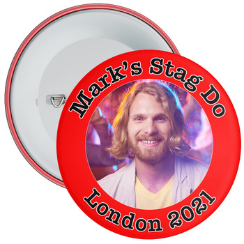 Customisable Red Stag Night Photo Badge