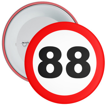 Speed Sign Themed 88th Birthday Badge