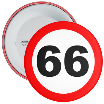 Speed Sign Themed 66th Birthday Badge