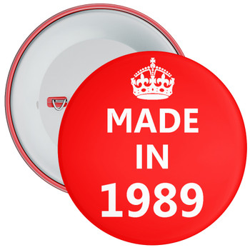 Made in 1989 Birthday Badge