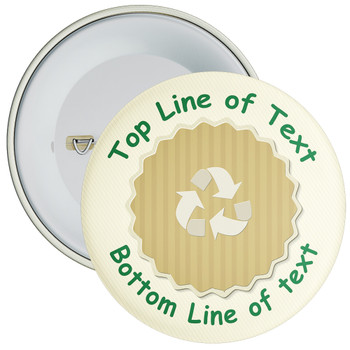 School Customisable Recycle Eco Badge