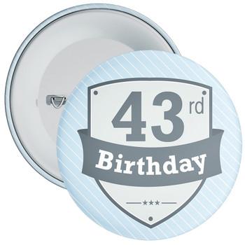 Vintage Retro 43rd Birthday Badge