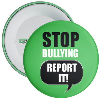 Pack of Green Stop Bullying Report It Badges - Badge Bucket