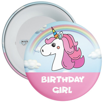 Unicorn Birthday Girl Badge 2