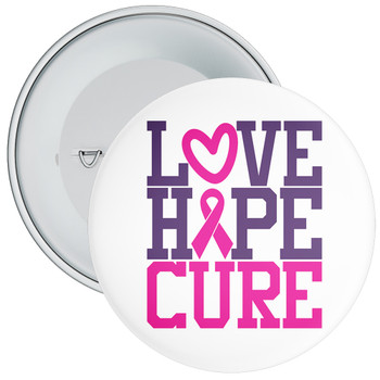 Love Hope Cure Cancer Awareness Badge