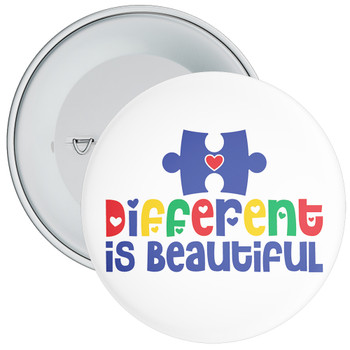 Different Is Beautiful Autism Awareness Badge
