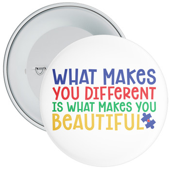 What Makes You Different Autism Awareness Badge