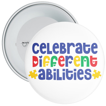 Celebrate Different Abilities Autism Awareness Badge