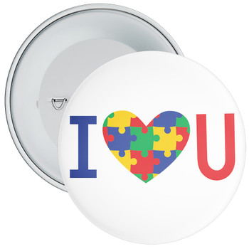I Love You Autism Badge
