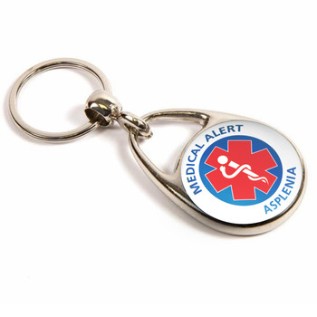 Asplenia Medical alert Keyring