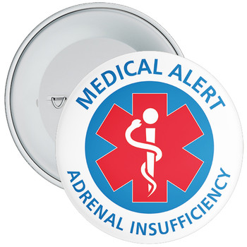 Adrenal Insufficiency Medical Alert Badge - 5 Sizes