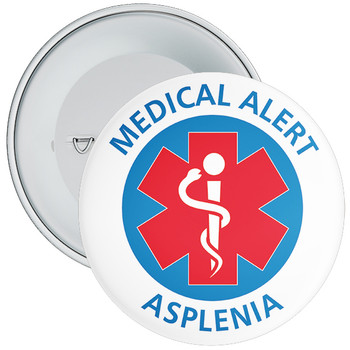 Asplenia Medical Alert Badge