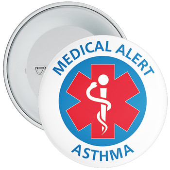 Asthma Medical Alert Badge