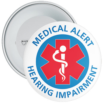 Hearing impairment Medical Alert Badge