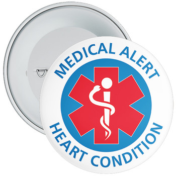 Heart Condition Medical Alert Badge