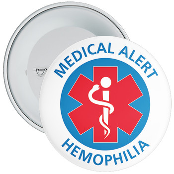 Hemophilia medical Alert Badge