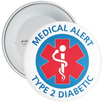 Type 2 Diabetes  Medical Alert Badge