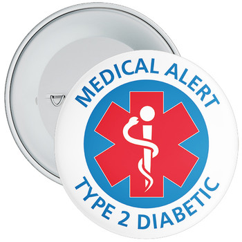 Type 2 Diabetes  Medical Alert Badge